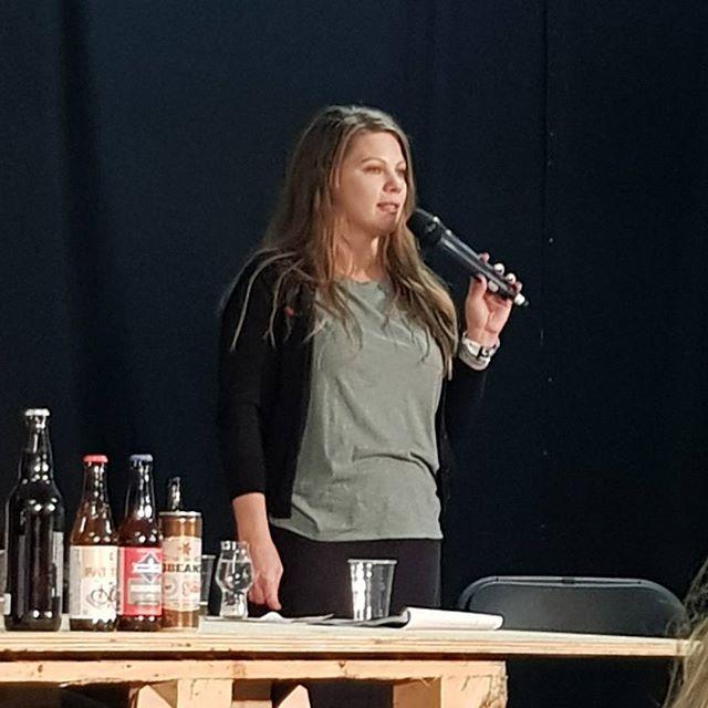 Casey from @newbelgium here to talk about Fat Tire Belgian White for @brewersassoc at @craftbeerriseuk #CBR18  #drinkbetterbeer #craftnotcrap #cheersguys #beerstagram #beersofinstagram #beerstagrammers #beers #beergeek #craftbeer #craftbeerlover #craftbeerporn #beerporn #beertography #beerpics #beerme #ilovebeer #beerlife #craftbeerlife #brew #lovebeer #craftlife #instabeer #beerlover
