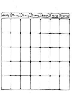 blank calender page