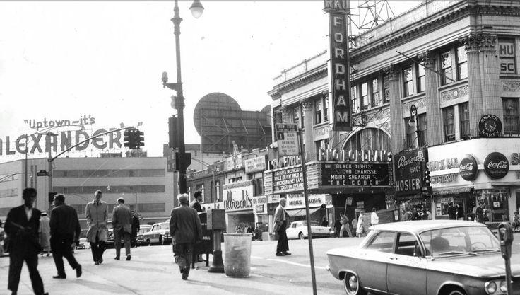 Fordham Road ca 1962 - Photo credit: Lehman College ...