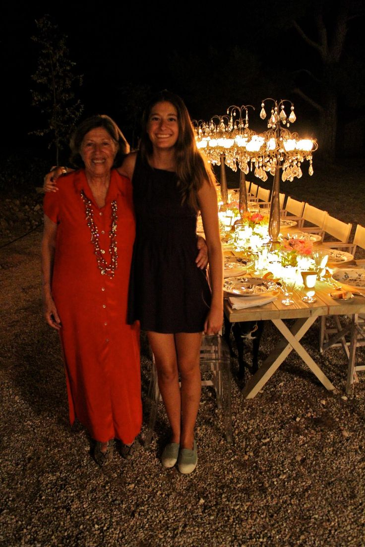 Evi and Fonie Mitsopoulou in Siderina, during a family dinner celebrating Evi's birthday! #meliparties