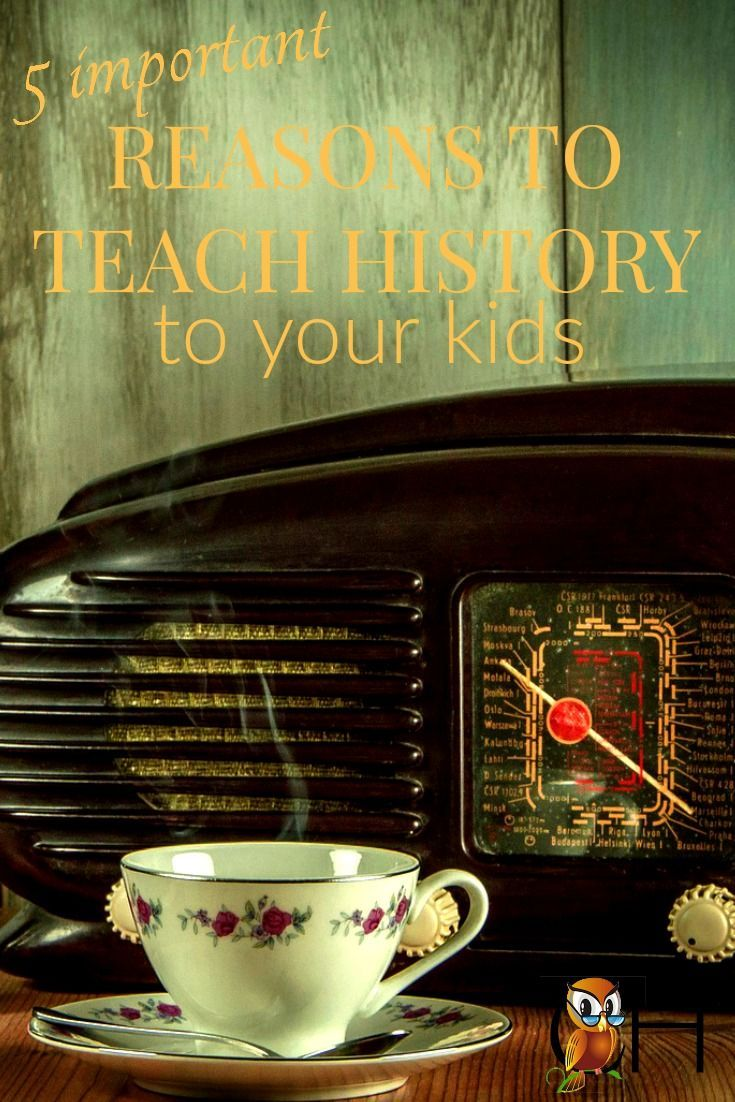 Why should you teach history to your kids? Between the various atrocities, strange cultures, and inhumane practices history is a terrifying subject.