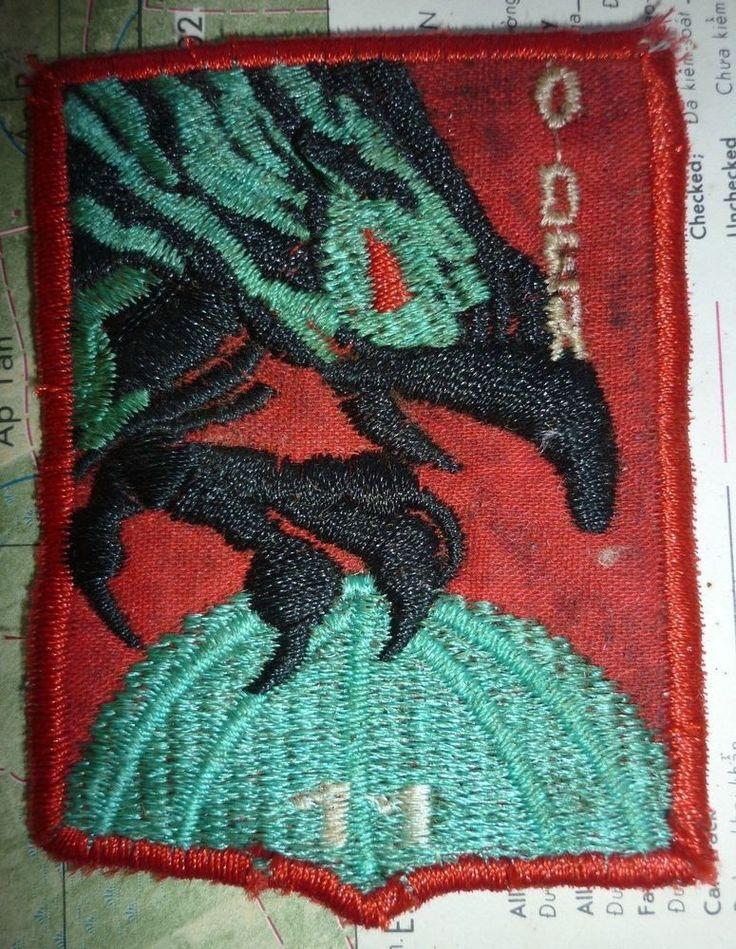 CHEESECLOTH PATCH - X.989 - ARVN 1/1 Hoa Tuyen O DEN - ELITE RECON - VIETNAM WAR