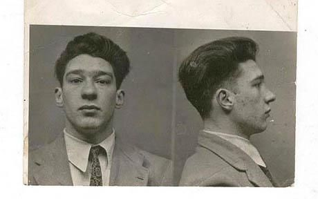 Ronnie Kray's mugshot from the late 1940s: Kray Brother, Reggie Kray, Kray Mugshots, The Kray, Kray Twin, Teenage Kray, Ronnie Kray