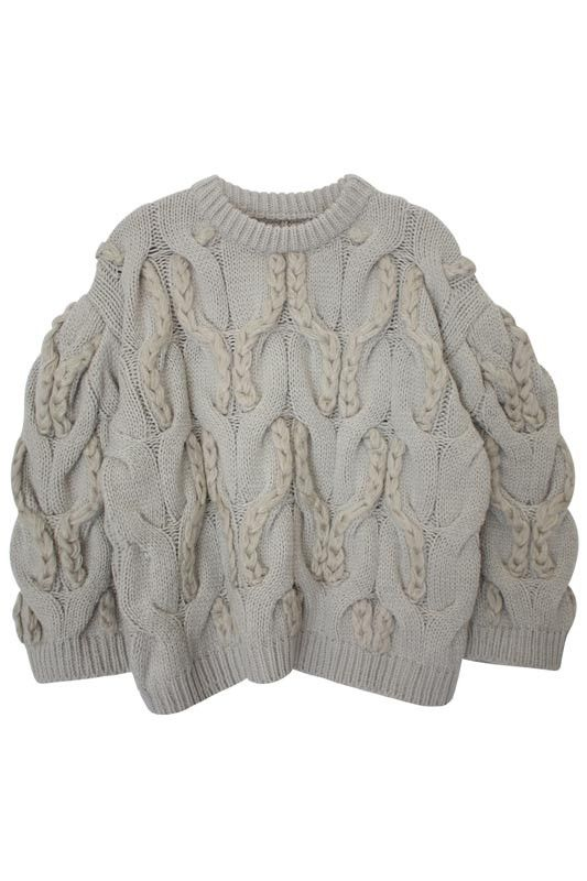 Contemporary Knitwear - chunky cable knit sweater with braided textures // Genuine People