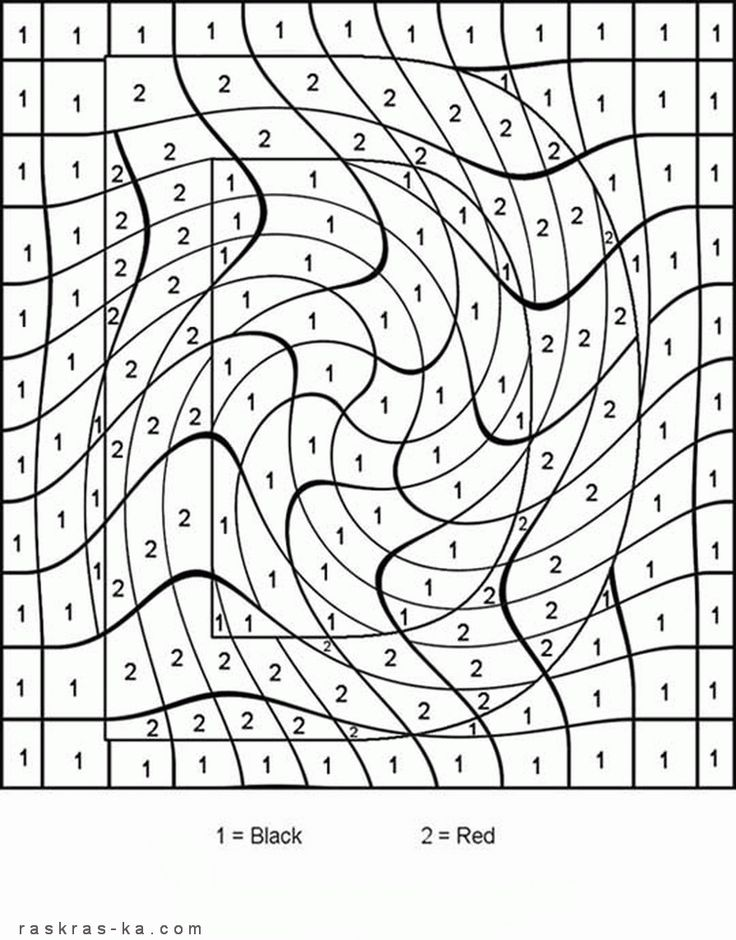 Coolest color by number coloring pages I\'ve ever seen! You know, for ...