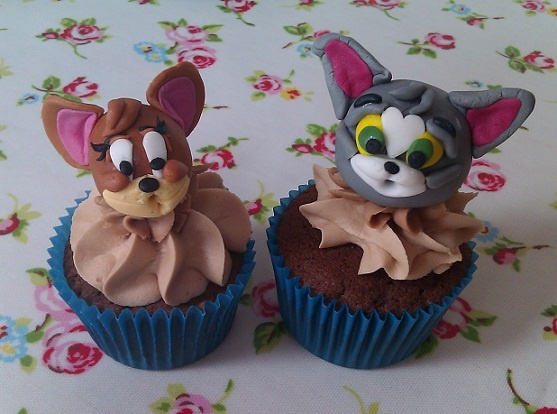 Tom & Jerry cupcakes Choc chip with belgian milk frosting