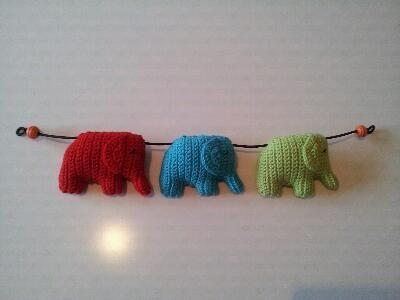 Barnvagnsmobil elefanter + mönster