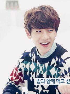 baekhyun cute〜♡ (gif)