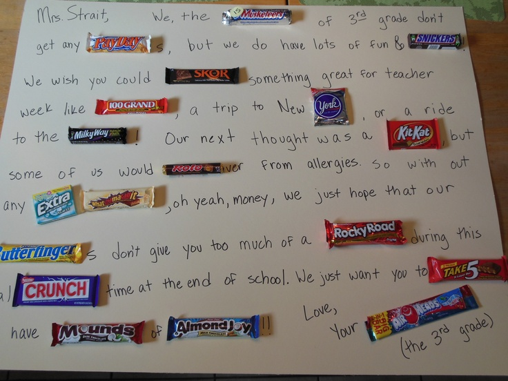 write a message with candy bars