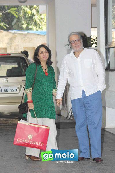 Aditya Raj Kapoor and wife Priti Kapoor at Shashi Kapoor's Christmas lunch in Mumbai