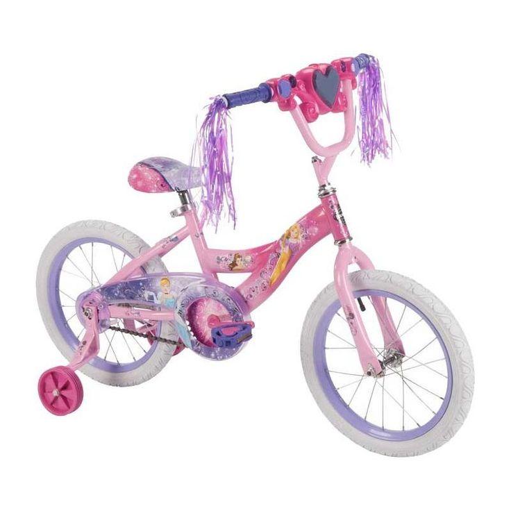 Huffy Girls' Disney Princess 16'' Bike, Blush/Soft Pink
