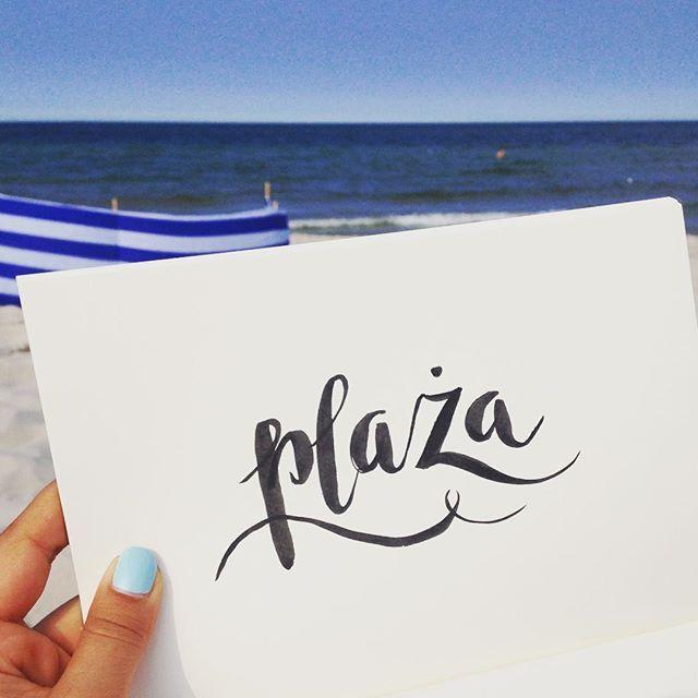 Plaża   Beach time  #jastarnia #poland #baltic #sea #wczasy  - #lettering…