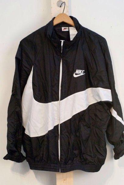 Black & white nike jacket