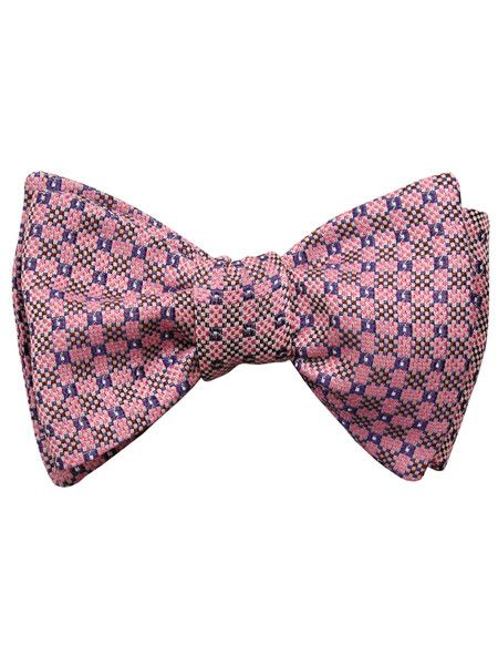 Self tie bow tie - Woven Jacquard silk in solid khaki beige Notch VMD9IrzumJ