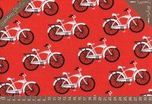 Tkanina Laminowana Retro Bike Robert Kaufman