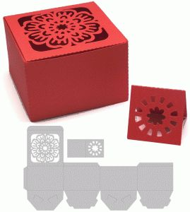 treasure box with flower design----------------------------------I think I'm in love with this shape from the Silhouette Online Store!