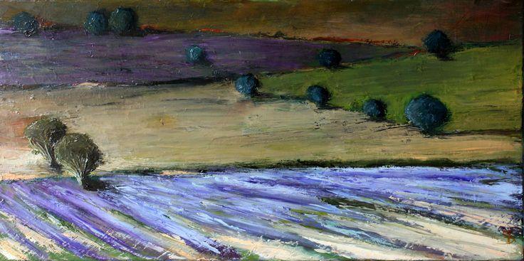 Drôme provençale, huile 40 x 80