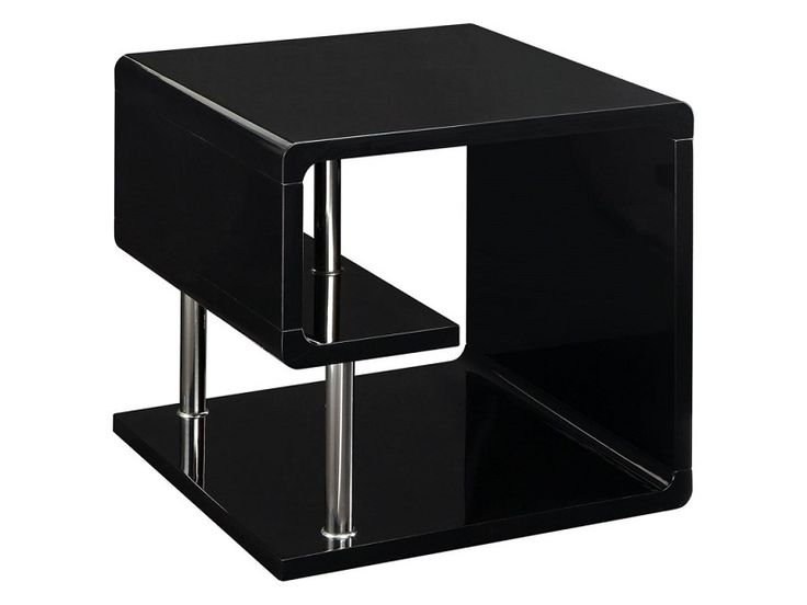 Ninove l by Furniture of America End Table CM4057BK-E Black Finish