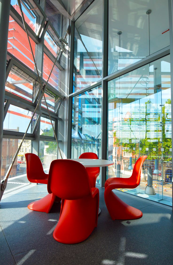 University of South Wales, Trinity St David - Alexandra Road Design Exchange: Vitra panton chairs.