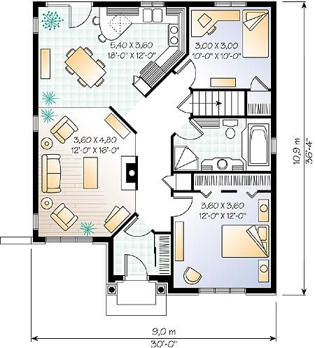 39 best house plans images on pinterest small home plans for 32x32 cabin plans