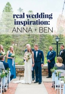 Real Wedding Inspiration: Anna + Ben | See the couple's soft blue and white themed color palette for their wedding at the Glen Eyrie Castle | The Wedding Shoppe