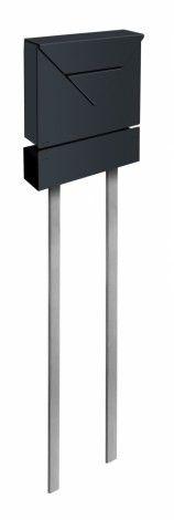Frabox Design Standbriefkasten EVERE Stahl lackiert von frabox - MK-DB1040-RAL+DF-1010-GLAENx online kaufen in unserem Shop | www.bruh.de