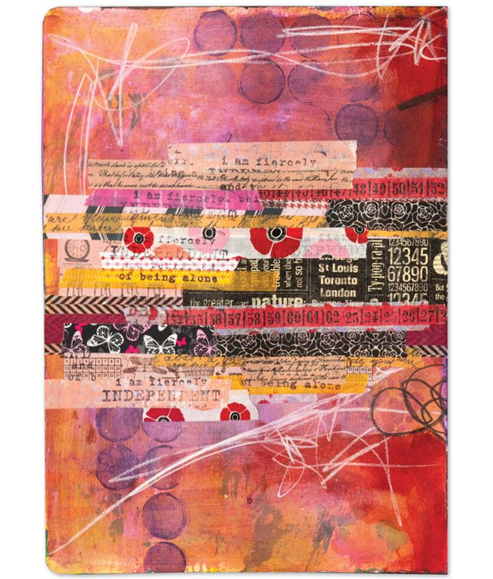 """""""Anyone can build up a bag of tricks and use a few to get a gorgeous journal page."""" See Heather Kindt's tips and tricks for making beautiful pages inside Art Journaling Autumn 2015."""