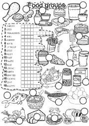 English Worksheets Food Groups Puzzle Educational Homeschool Group Meals Food Food Vocabulary