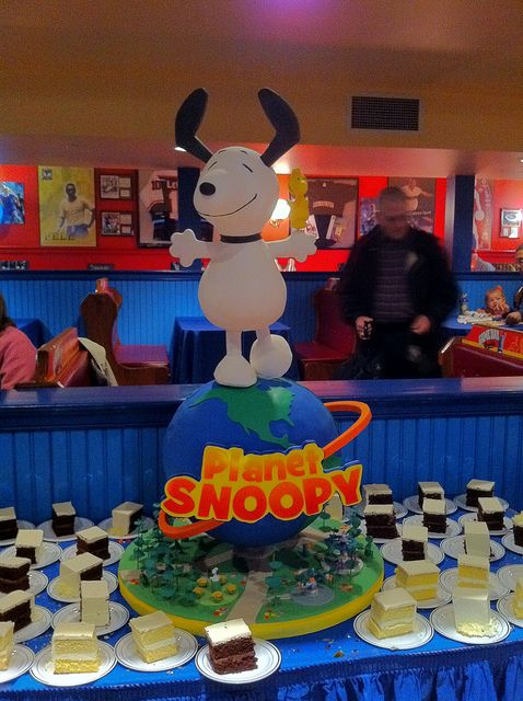 If that Snoopy is apart of the cake too and is cakey and edible like a cake, than this is the awesomest cake ever!