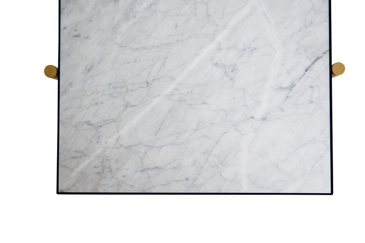 HANDVÄRK Console // Brass on Black // White Marble.