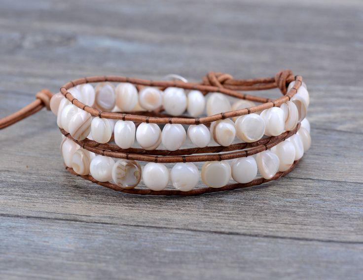Shell Stone Wrap Bracelets   Gemstone Bracelet Handmade   Beaded Bracelet