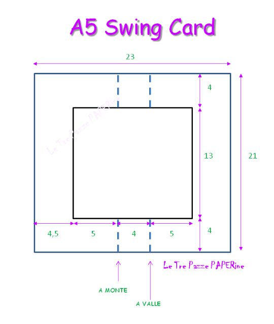 Le Tre Pazze PAPERine-A5 SWING CARD