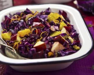 Salade de chou rouge à la pomme et à l'orange pour bien digérer