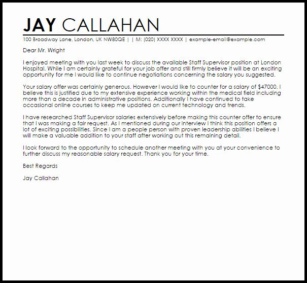 Counter Offer Letter Template Inspirational Counter Fer Job Letter Example Job Letter Job Letter Example Proposal Letter