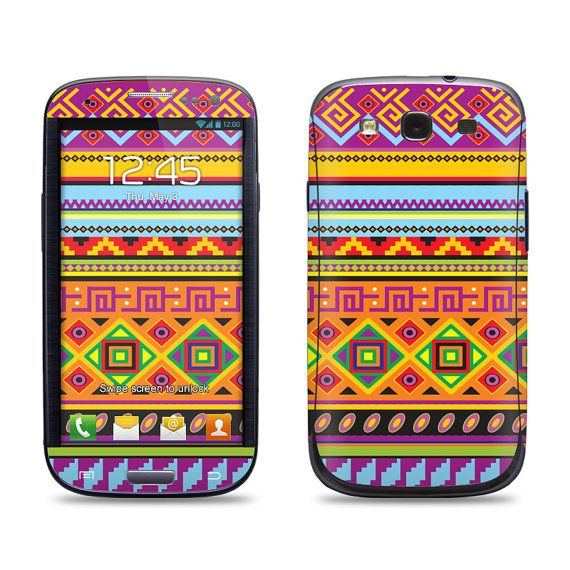 Samsung Galaxy S3 Phone Case Cover Decal  Native by skunkwraps, $9.95