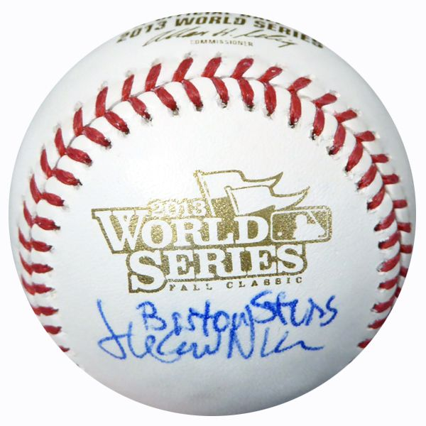 "Juan Nieves Autographed Official 2013 World Series Baseball Red Sox """"Boston Strong"""" PSA/DNA #AC23300"