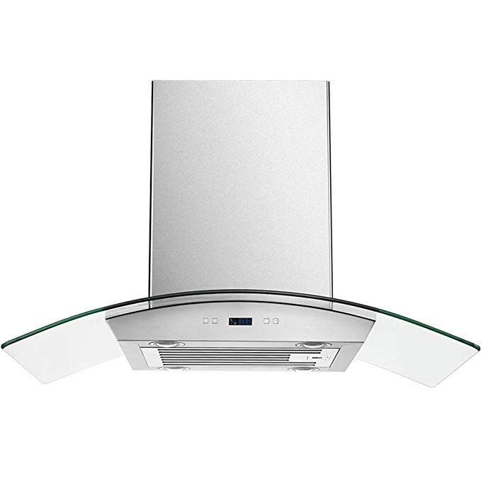 Cavaliere 36 Inch Glass Canopy Island Mounted Stainless Steel Kitchen Range Hood Review Steel Kitchen Kitchen Range Range Hood