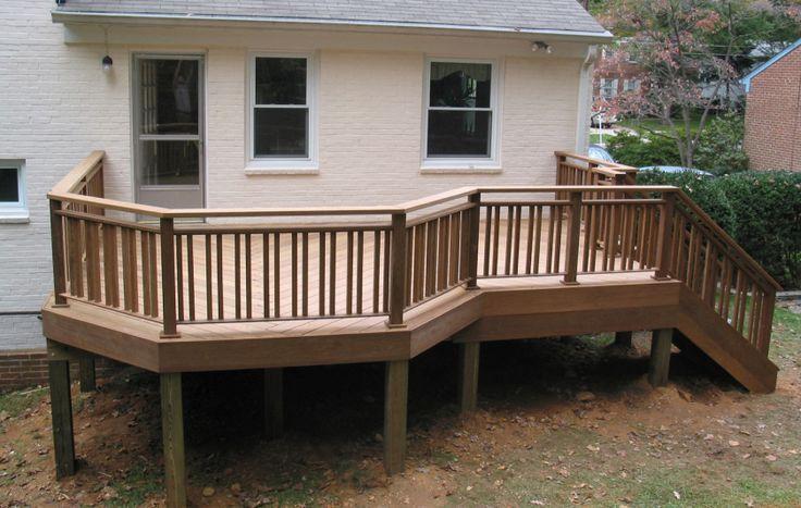 Wood Deck Railing Design Ideas View 100s of Deck Railing Ideas http://awoodrailing.com/2014/11/16/100s-of-deck-railing-ideas-designs/