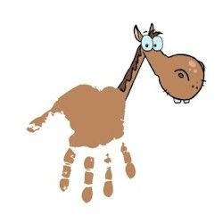 Handprint Horse complete with free printable horsehead and neck.