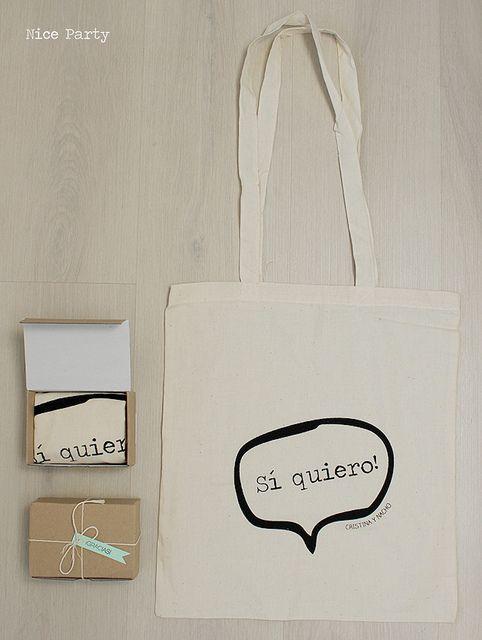 """bolsa estampada """"Sí, quiero"""""""