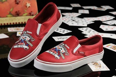 Vans Slipper On Shoes Low Poker Red For Men Women