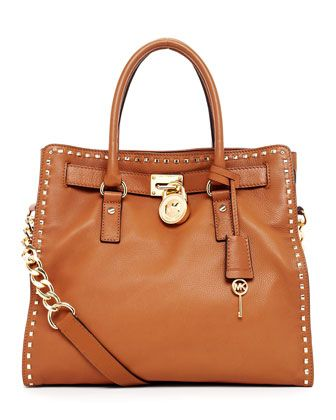 REALLY love this bag. Ahhhhhh    MICHAEL Michael Kors  Hamilton Large Studded Tote.