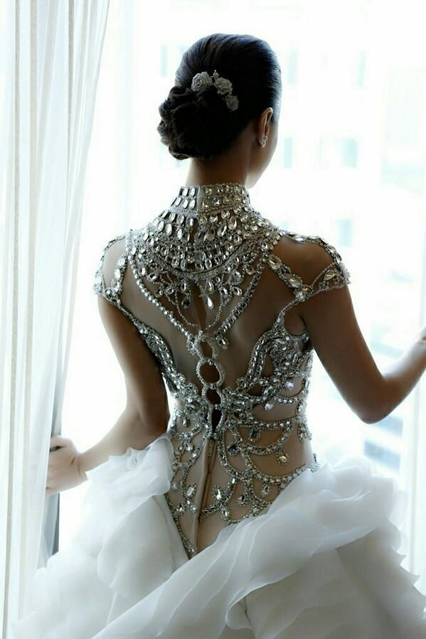 Gorgeous embroidered wedding dress