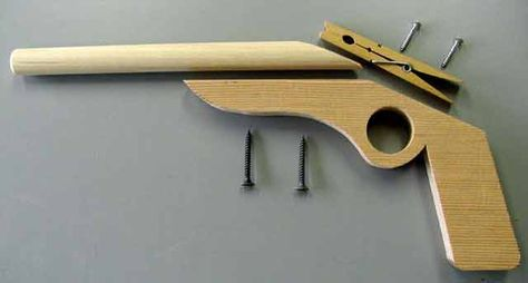 CRAFTSMAN Toy Rubber Band Gun ... pretty awesome but don't think we'll get to it :(