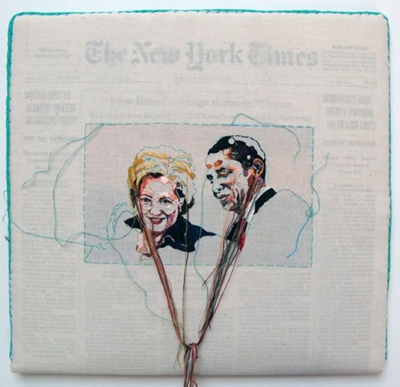 These Embroidered Newspapers Are The Most Gorgeous Thing Youll See Today