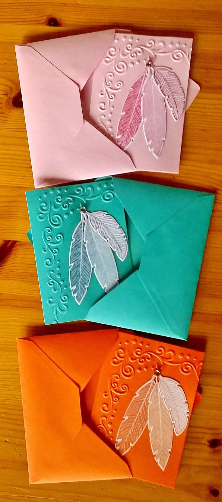Four feathers Little Greeting Cards
