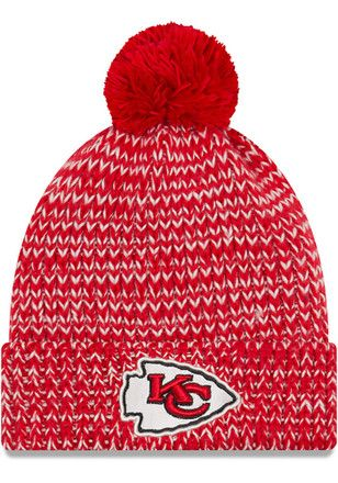 separation shoes 10ca1 764f4 New Era Kansas City Chiefs Womens Red Frosty Cuff Knit Hat