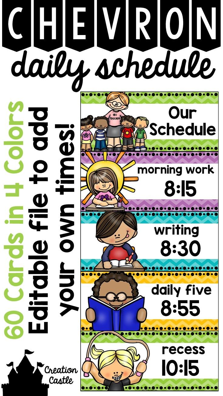 Organize your daily schedule with these tonal chevron cards that will brighten your classroom! I suggest laminating the cards and placing magnetic tape on the back to adhere to your whiteboard. This allows for easy manipulation when your schedule changes. $