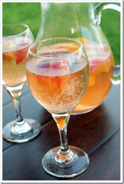 Sparkling White Peach Sangria | Recipe
