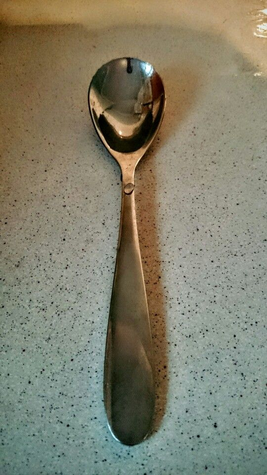 Spoon with water